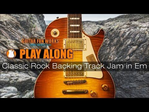 Classic Rock Backing Track Jam In Em