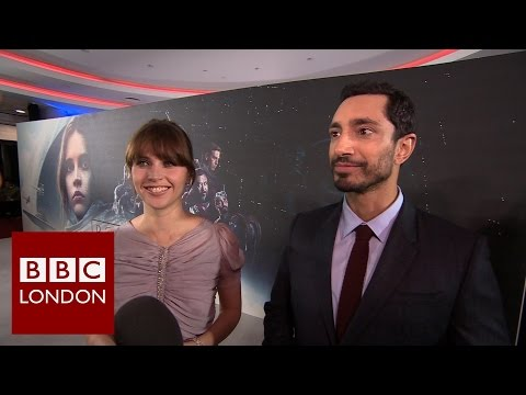 Riz Ahmed and Felicity Jones interview for Rogue One: A Star Wars Story  – BBC London News