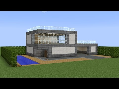 Minecraft - How to build a modern house 7