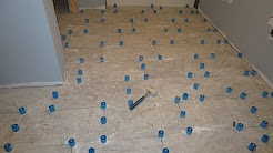 How to use Progress Profiles Proleveling System to install large format tile