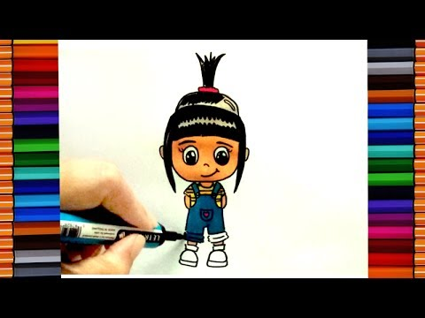 How to Draw Agnes easy Despicable Me l Kids love