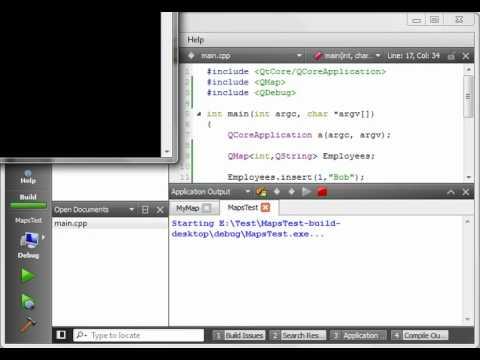 C++ Qt 40 - QMap