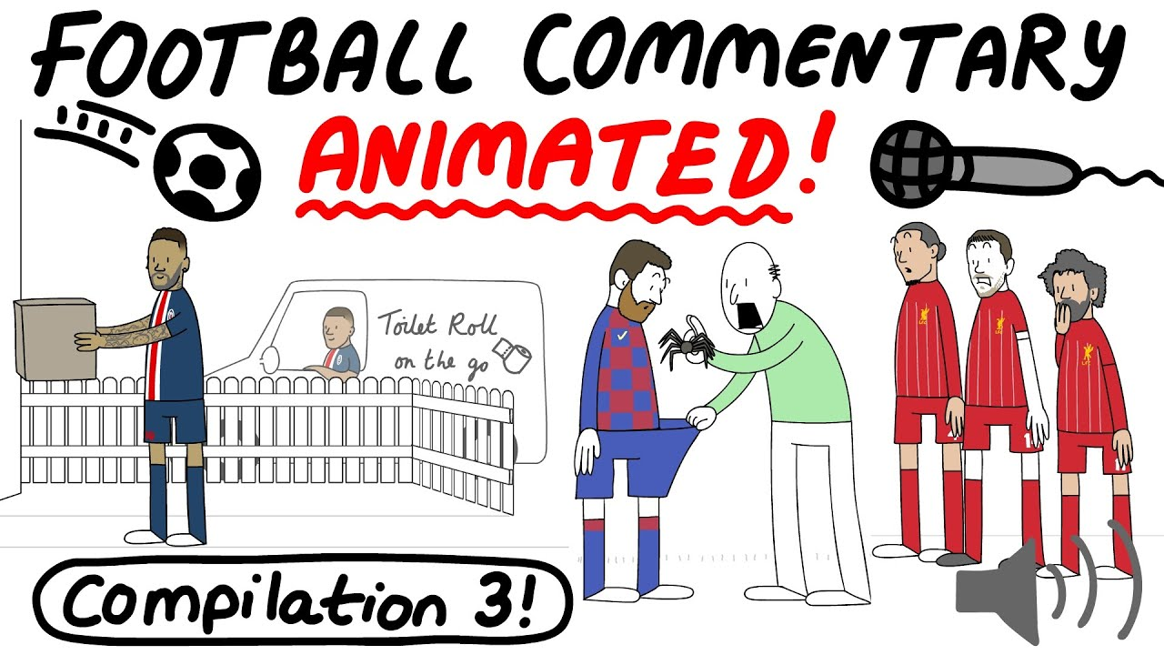 Crazy Football Commentary, Animated! COMPILATION 3 (Parts 12-15)