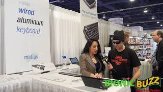 Matias RGB-Backlit Wired Aluminum Keyboard Interview at CES 2018