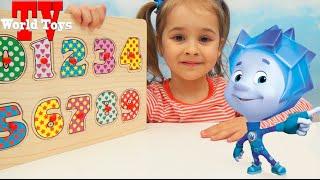 Учимся считать. Развивающий мультфильм для самых маленьких. Арина с фиксиками учит цифры.