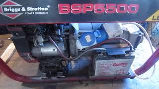 Генератор Briggs&Stratton BSP5500, заклинило двигатель