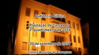 Audiência Pública Prestação de Contas do 2º quadrimestre de 2016