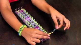 How To Make Railroad Loom Band Bracelet [EASY] [BEGINNER]