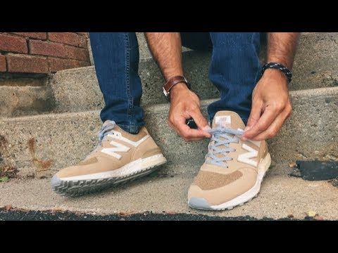 "df4341f2c912bd New Balance 574 Sport ""Stone Beige"" Review & ON FEET - YouTube"