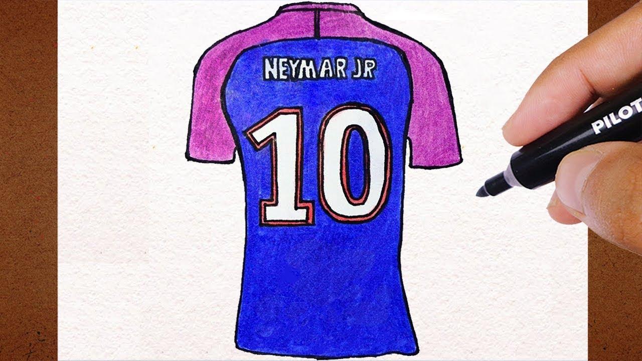 Como Desenhar Camisa 10 Neymar No Psg Vamos Desenhar