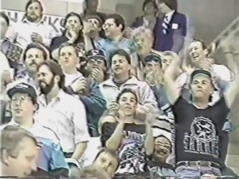 Jeff Odgers TKO's Cam Russell & Sharks vs Blackhawks scrum 1994
