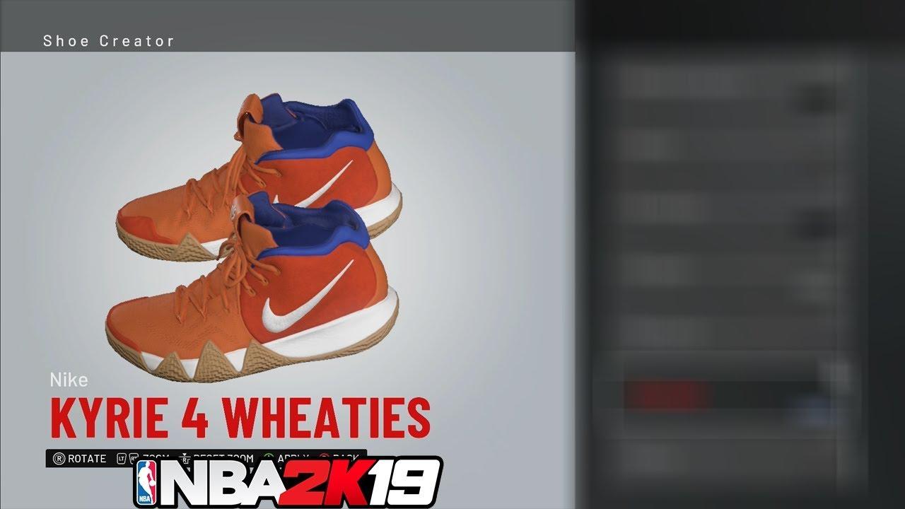 NBA 2K19 Shoe Creator Kyrie 4 Wheaties