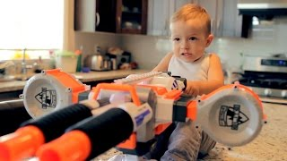 One of GunVsGun's most viewed videos: Nerf War: Gun BABY 2!