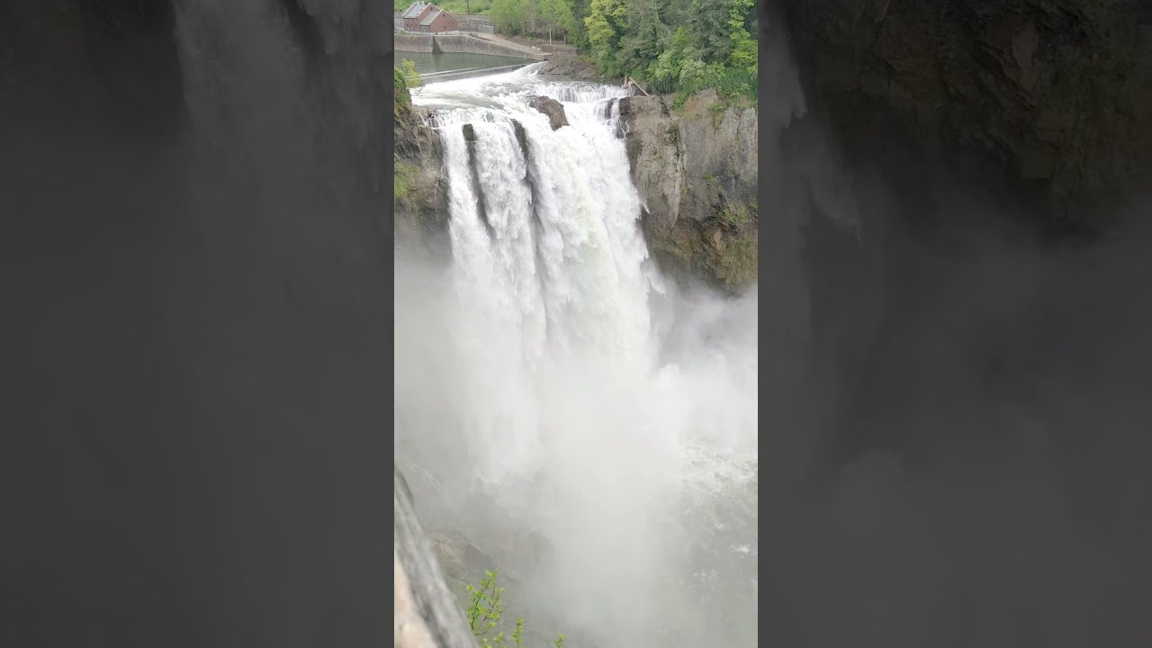 Roaring Snoqualmie falls at it's best in May , the beauty in the nature