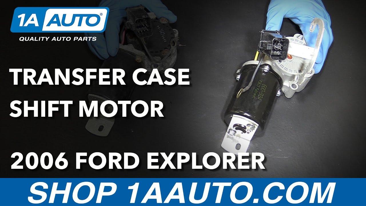 How To Install Transfer Case Shift Motor 06 10 07 Ford Explorer