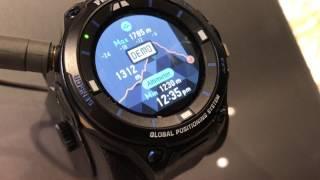 Casio Pro-Trek WDS-F20 Smartwatch | Baselword 2017 | Hands-on