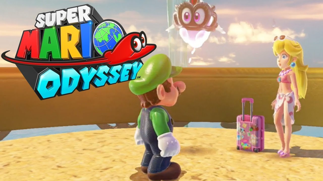 Super Mario Odyssey - Peach in the Seaside Kingdom (Luigi Costume) & Super Mario Odyssey - Peach in the Seaside Kingdom (Luigi Costume ...