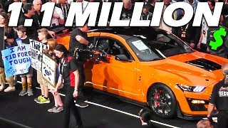FIRST 2020 SHELBY GT500 SELLS FOR 1.1 MILLION DOLLARS