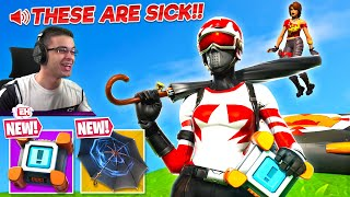 Nick Eh 30 reacts to NEW Legendary Umbrella & Crash Pad in Fortnite!