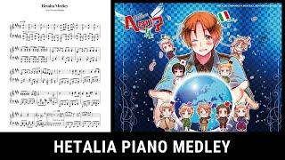 Hetalia Medley (Piano Tutorial)