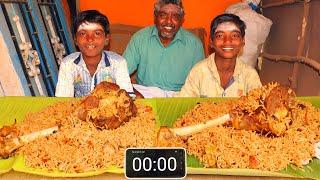 4 KG MUTTON BIRYANI EATING CHALLENGE | VILLAGE BOYS EATING CHALLENGE | GOAT BIRYANI | FARMER COOKING