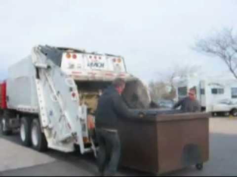 Utah Garbage Trucks Part 2 -- Leach 2RIII on Peterbilt 320