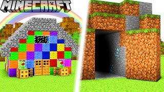 GEHEIME OP BASE VS. REGENBOGEN HAUS IN MINECRAFT!