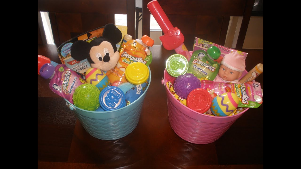 Whats in our easter baskets toddlers ages 1 2 youtube negle Choice Image