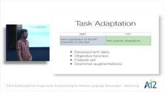 Large-scale paraphrasing for natural language generation - Chris Callison-Burch