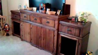 Solid Oak Tv Cabinet With Firgelli Tv Lift