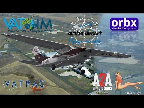A2A Cessna C182 Practice ILS approaches on Vatsim at YMAV Avalon