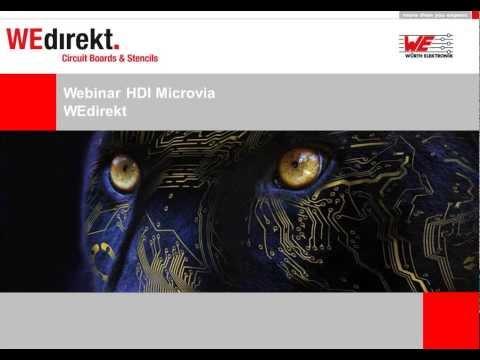 WEdirekt Webinar: Order HDI Microvia PCBs through the WEdirekt online shop