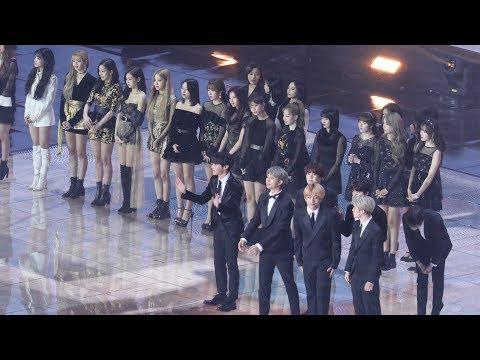 BLACKPINK, TWICE, BTS 입장 Opening (로제 채� 친목) 블랙핑�,트와�스,방탄소년단 4K �캠 by 비몽