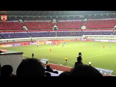 Football match at Kim Il Sung Stadium in Pyongyang, North Korea - Travel Shorts 2