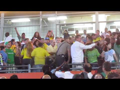 Colombia vs. Mexico [Fans fight at Sun Life Stadium]