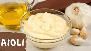 Aioli | Spanische Knoblauch Mayonnaise Selber Machen Ohne Ei | Rezept Auch Vegan Möglich