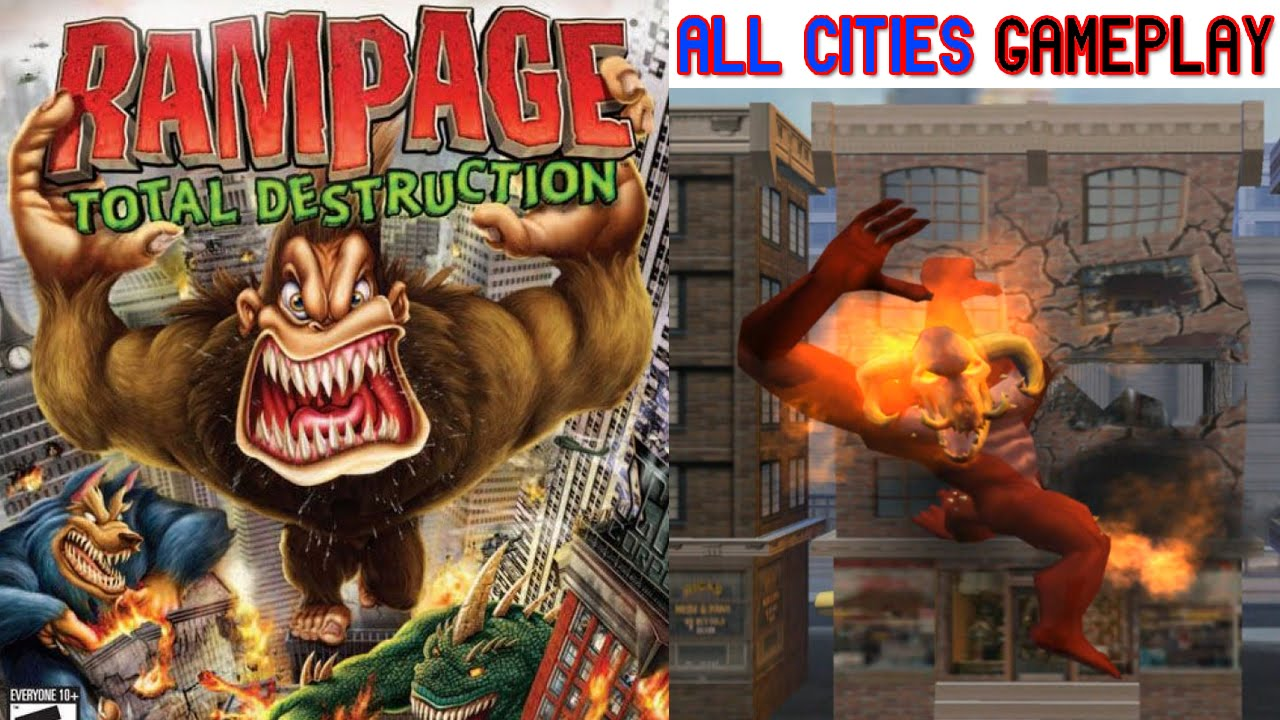 Rampage Total Destruction Gameplay All Cities Ps2 Hd Youtube