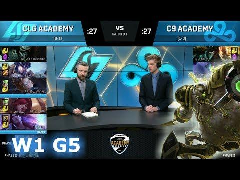 CLG Academy vs CLoud 9 Academy | Week 1 of S8 NA Academy League Spring 2018 | CLGA vs C9A