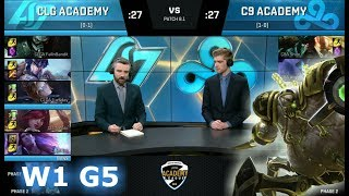 CLG Academy vs CLoud 9 Academy | Week 1 of S8 NA Academy League Spring 2018 | CLGA vs C9A