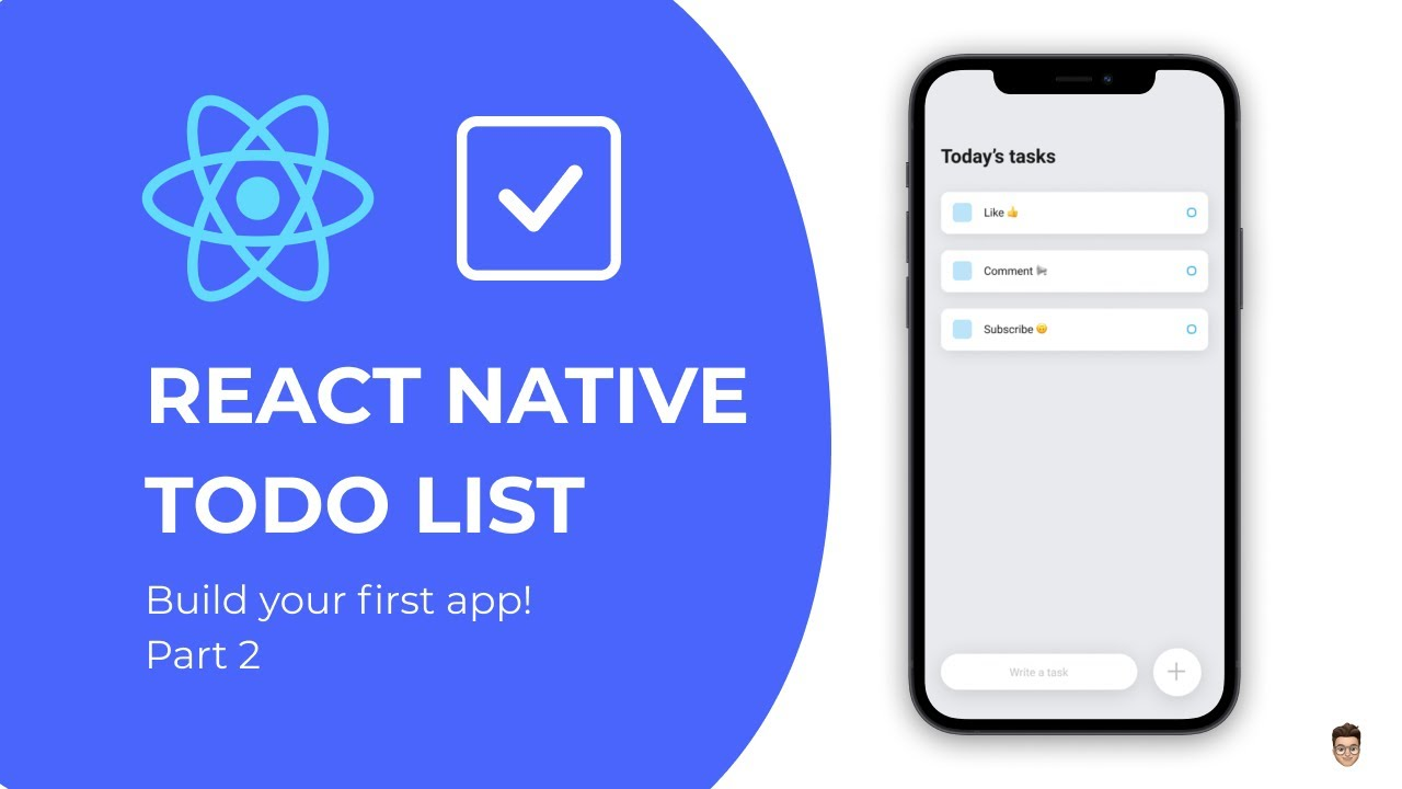 👉 Build your first React Native app - Todo List Tutorial Part 2