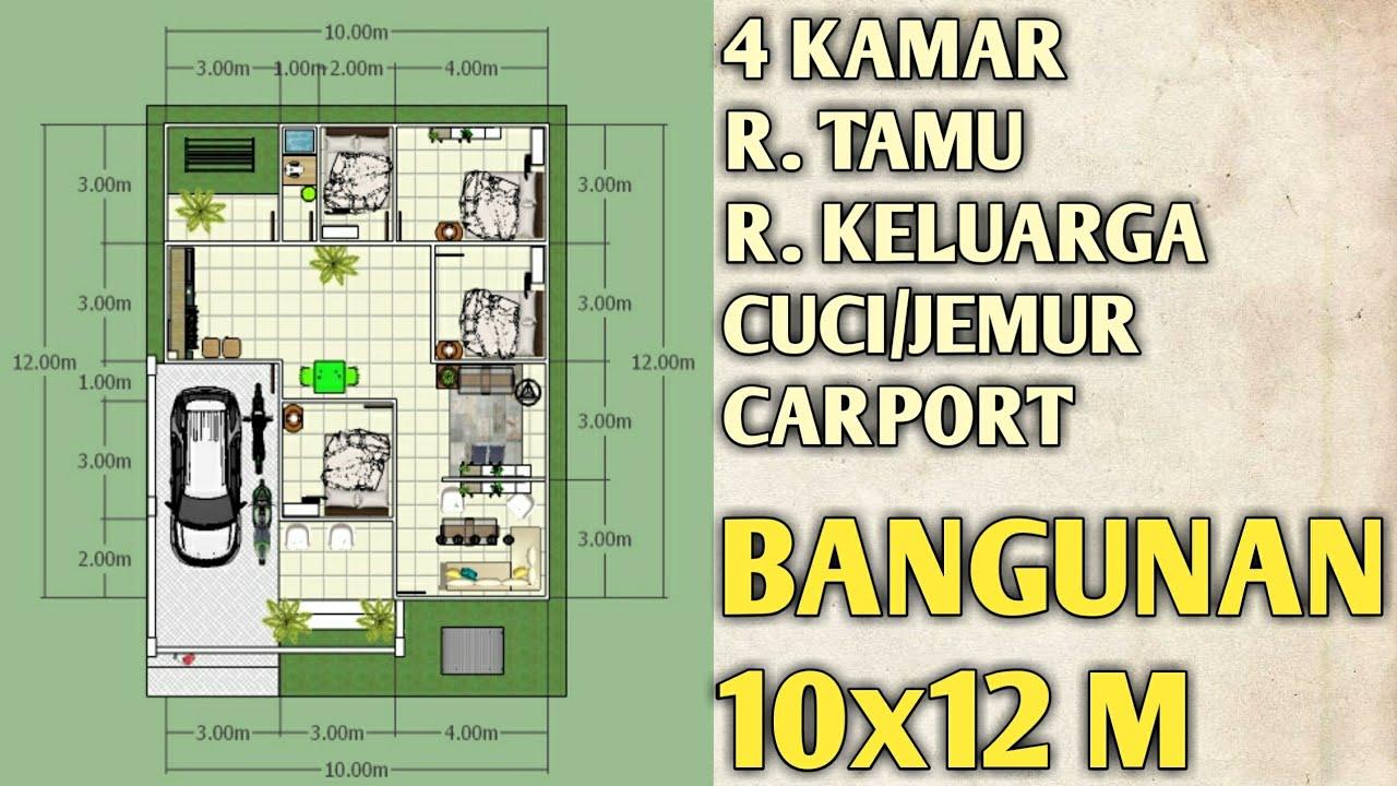 denah rumah 3 kamar 10x12