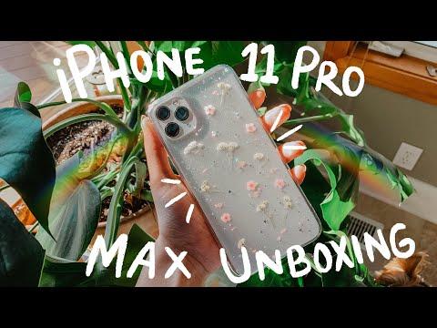 IPHONE 11 PRO MAX UNBOXING & SETUP + CAMERA TEST! *satisfying*