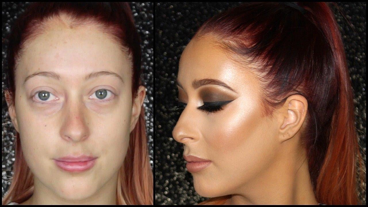 Dramatic Brown Smokey Eye Client Makeup Tutorial
