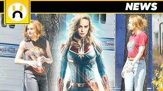 NEW Captain Marvel Set Photos Debut 90s Carol Danvers