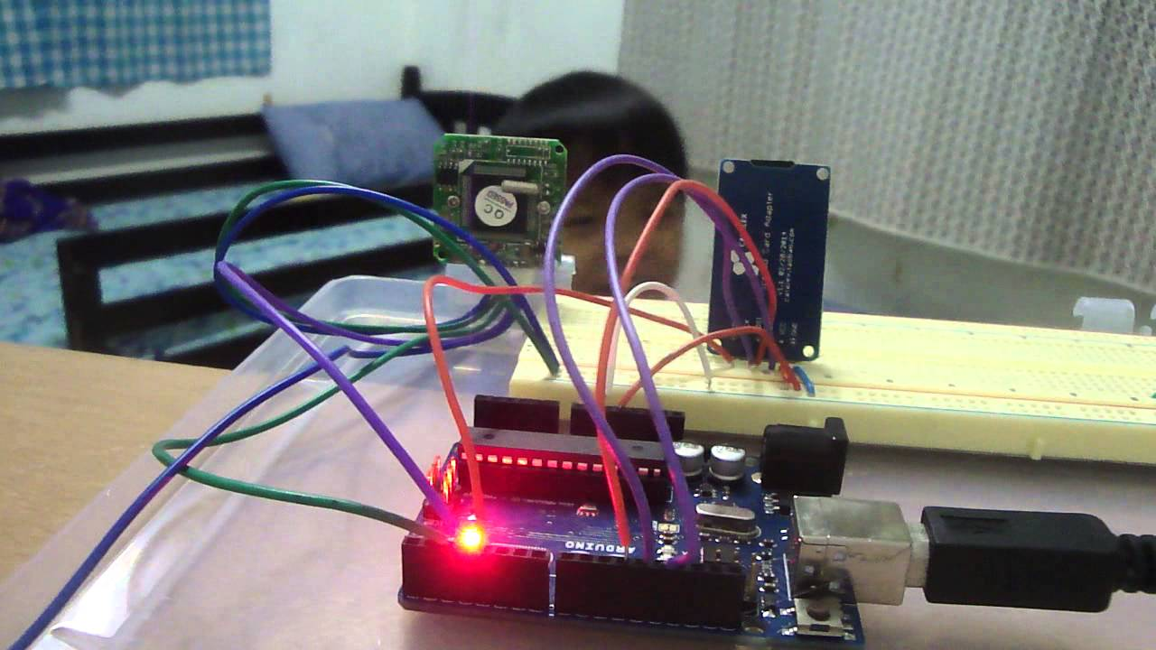 Motion detector and snapshot using vc camera module