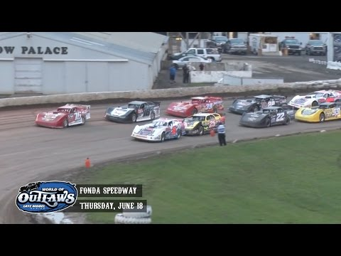 Highlights: World of Outlaws Late Model Series Fonda Speedway June 18th, 2015