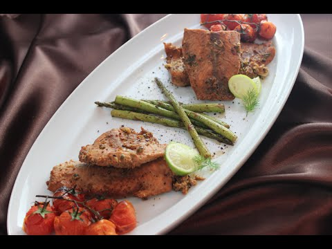 Cooking with Caz: Salmon Served with Roasted Piccolo Tomatoes and Asparagus
