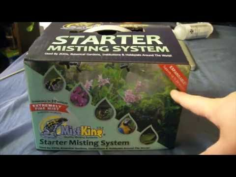 Setting up a mistking misting system!