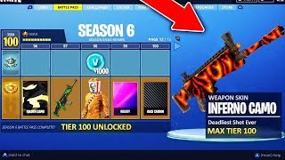 BATTLE PASS 6 FILTRATIONS! FORTNITE SEASON PASS 6 FREE V-BUCKS FORTNITE