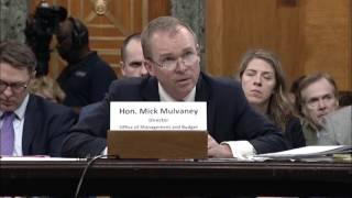 Sen. Murray Challenges President Trump's Budget Director to Explain Budget Cuts